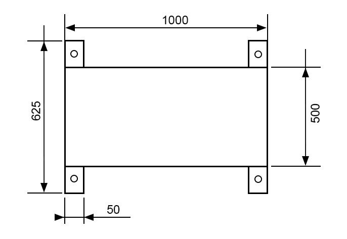 чертеж путей AX1000P500